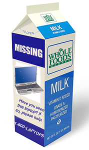 Milk carton laptop