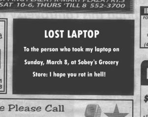 Lost ad
