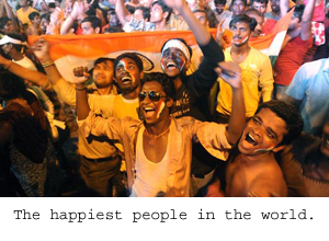 Happy Indians 100 people in each country atHappy Indians