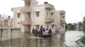 Army flood relief and rescue operations, in Chennai on November 17, 2015.